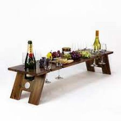 Indi Tribe Folding Table - 8 Glass Holder