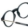 Clic Brooklyn Oval in Grey Progressive Eyeglasses