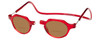 Clic Metro Oval Polarized Bi-Focal Reading Sunglasses in Red