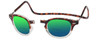 Clic Vintage Oval Polarized Bi-Focal Reading Sunglasses in Tortoise Clear