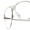Clic Silver Aviator Reading Glasses with Blue Light Filter & A/R Lenses