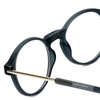 Clic Brooklyn Oval Reading Glasses in Grey with Blue Light Filter & A/R Lenses