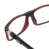 Clic Executive Matte Brown Tube Reading Glasses with Progressive Blue Light Filter Lenses