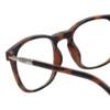 Clic Manhattan Oval Reading Glasses in Tortoise with Progressive Blue Light Filter Lenses