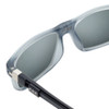 Close Up View of Clic Tube Executive Magnetic Designer Polarized Sunglasses in Matte Grey with Smoke Grey Lenses