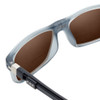 Close Up View of Clic Classic Magnetic Designer Polarized Bi-Focal Reading Sunglasses in Smoke Grey with Amber Brown Lenses