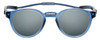 Front View of Clic Tube Pantos Magnetic Designer Polarized Sunglasses in Blue Jeans with Smoke Grey Lenses