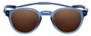 Front View of Clic Tube Pantos Magnetic Designer Polarized Sunglasses in Blue Jeans with Amber Brown Lenses