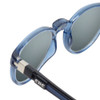 Close Up View of Clic Tube Pantos Magnetic Designer Polarized Sunglasses in Blue Jeans with Smoke Grey Lenses