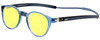 Clic Classic Magnetic Designer Polarized Bi-Focal Reading Sunglasses in Smoke Grey with Sunflower Yellow Lenses