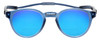 Front View of Clic Classic Magnetic Designer Polarized Bi-Focal Reading Sunglasses in Smoke Grey with Blue Mirror Lenses