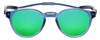 Front View of Clic Classic Magnetic Designer Polarized Bi-Focal Reading Sunglasses in Smoke Grey with Green Mirror Lenses