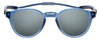 Front View of Clic Classic Magnetic Designer Polarized Bi-Focal Reading Sunglasses in Smoke Grey with Smoke Grey Lenses