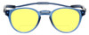 Front View of Clic Classic Magnetic Designer Polarized Bi-Focal Reading Sunglasses in Smoke Grey with Sunflower Yellow Lenses