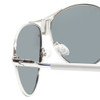 Clic Metal Aviator Frame Sunglasses in Silver