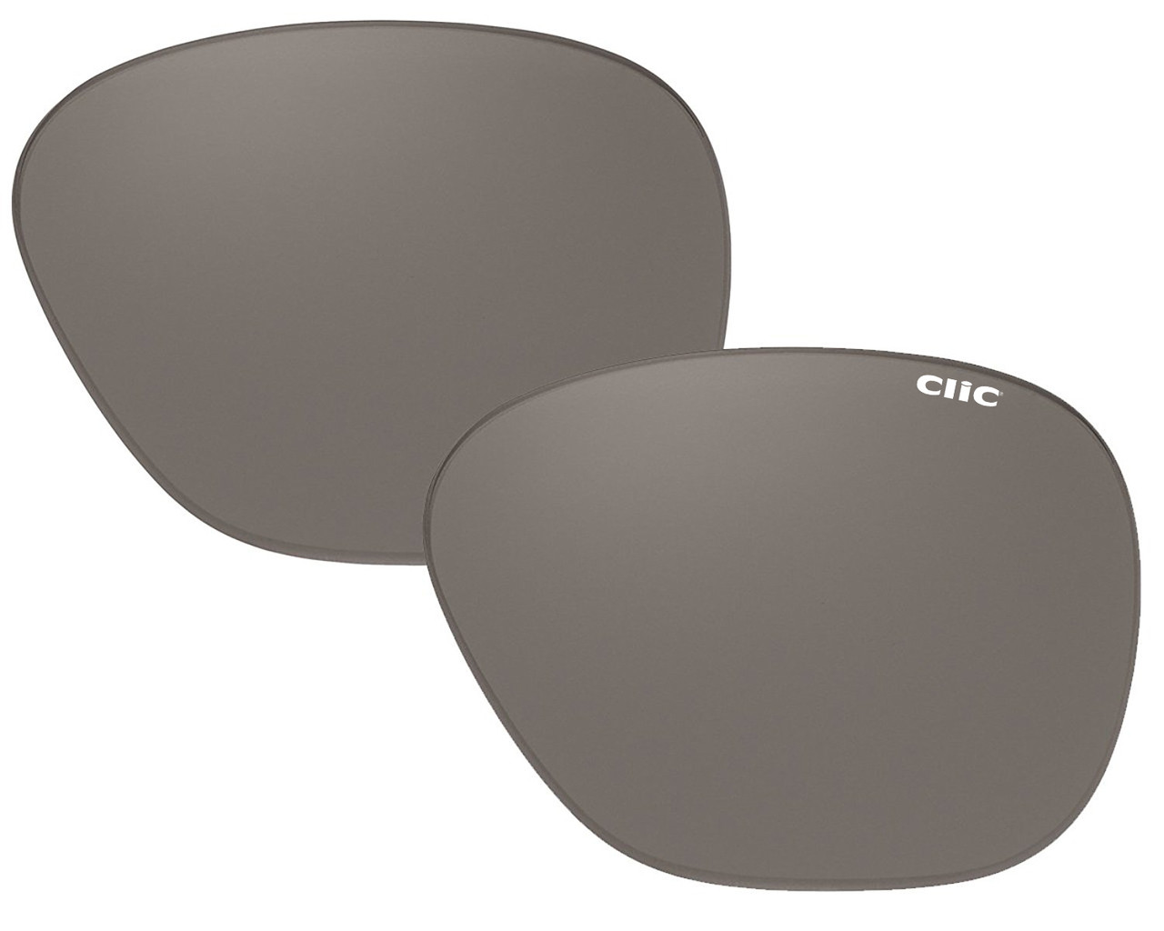 acdfe0377b Clic Sunglass Aviator Replacement Lenses (Left   Right Lenses)  Polarized  Gray