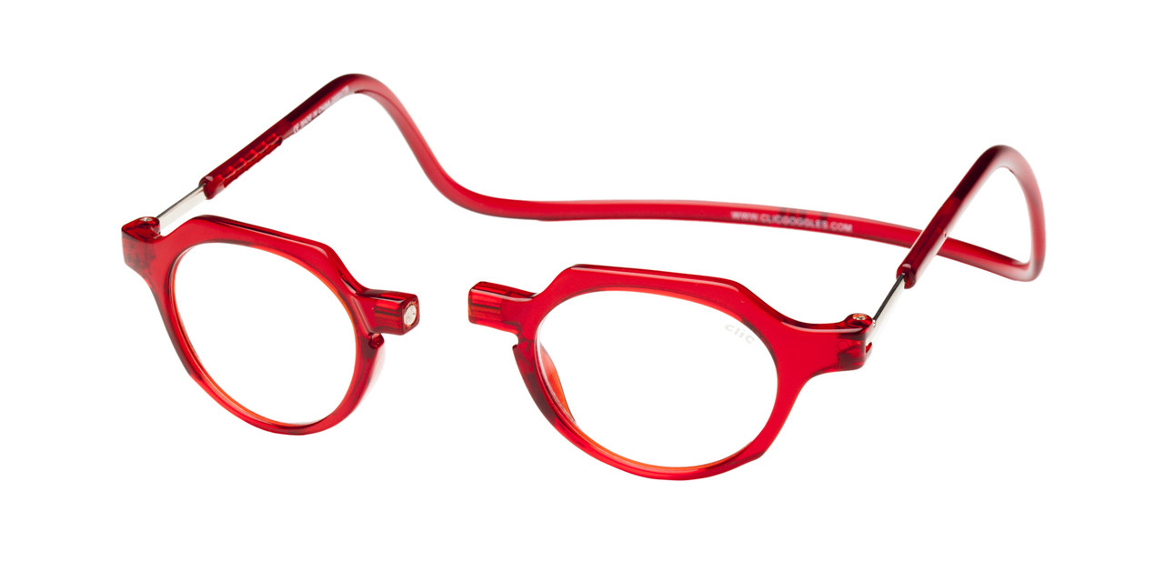 82363650018 Clic Metro Oval Reading Glasses in Red - Clic Magnetic Glasses