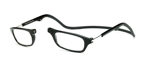 Clic Compact Reading Glasses in Black Frame with Black Headband Custom