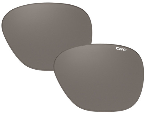 Clic Sunglass Aviator Replacement Lenses (Left & Right Lenses): Polarized Gray