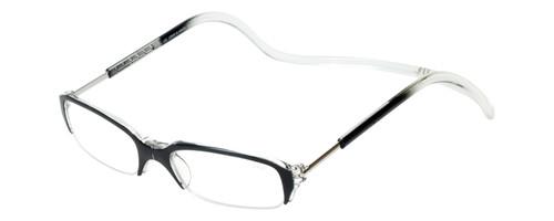 Clic Half Frame Black Reading Glasses