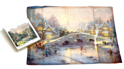 Holiday Christmas Theme Cleaning Cloth, Spirit of Christmas