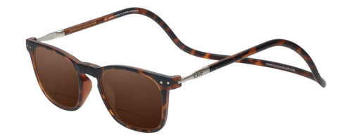 Clic Manhattan Polarized Bi-Focal Reading Sunglasses in Tortoise