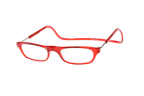 Clic Red Reading Glasses with Blue Light Filter & A/R Lenses