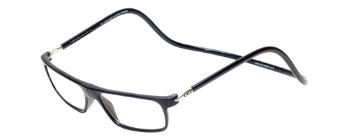 Clic Executive Black Reading Glasses with Blue Light Filter & A/R Lenses