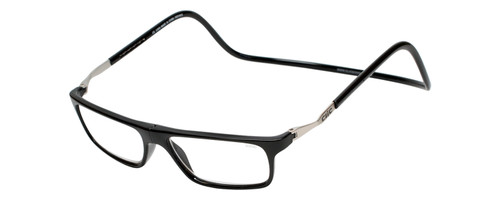 Clic Executive XL Black Reading Glasses with Blue Light Filter & A/R Lenses