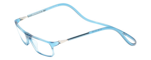 Clic Executive Blue Jeans Reading Glasses with Progressive Blue Light Filter Lenses