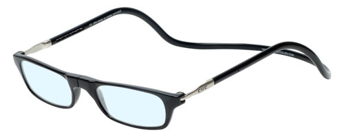 Clic Black Reading Glasses with Blue Light Filter & A/R Lenses