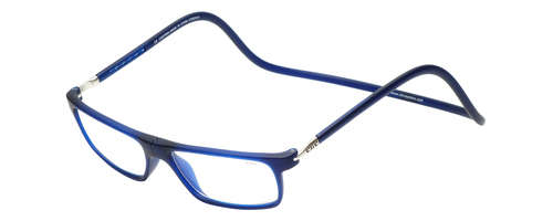 Clic Executive Reflex Frosted Blue Magnetic Reading Glasses Custom L&R