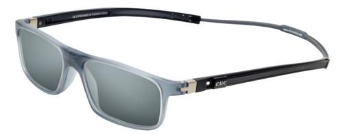 Clic Tube Executive Magnetic Designer Polarized Sunglasses in Matte Grey with Smoke Grey Lenses