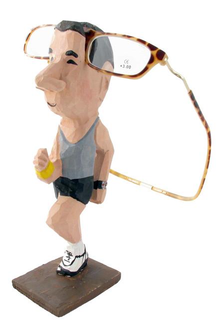 Jogger-Man Peeper Eyeglass Holder Stand