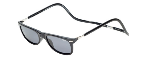 Clic Ashbury Wide Sunglasses in Black with Grey Lens