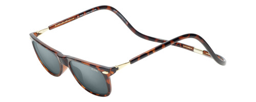 Clic Ashbury Wide Sunglasses in Tortoise with Grey Lens