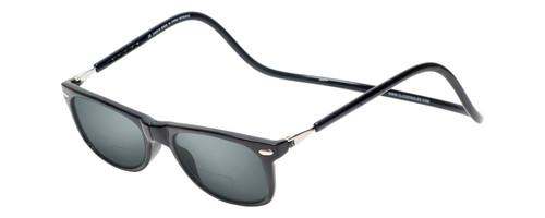 Clic Ashbury Bi-Focal Reading Sunglasses in Black & Grey Tint