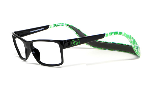 Hoven Eyewear MONIX in Black & Green Turtle :: Custom Left & Right Lens