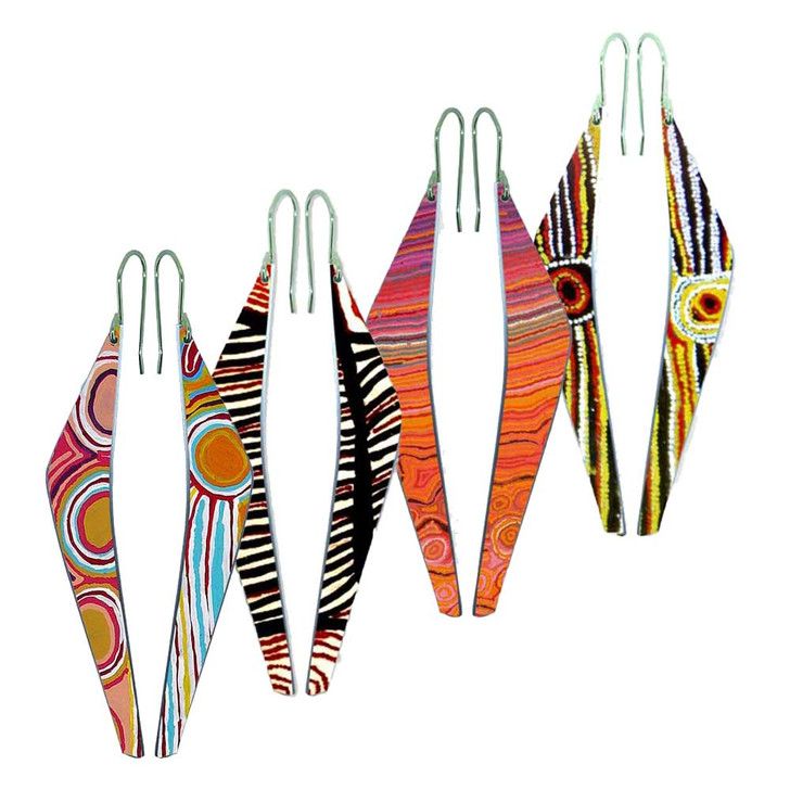 Aboriginal Design Long Style Earrings