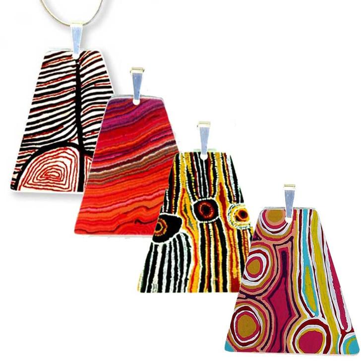 Triangular Style Pendant showcasing Indigenous Designs