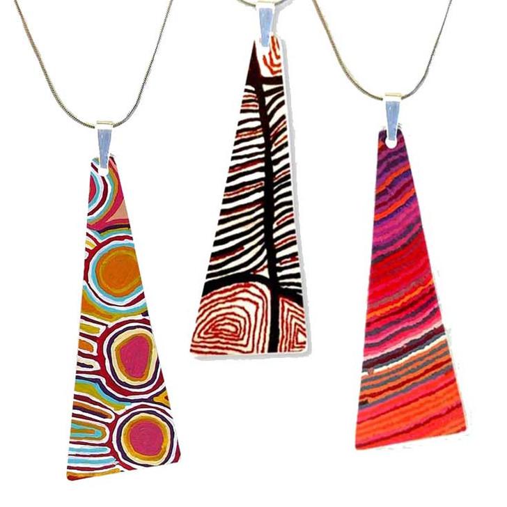 Aboriginal Design Long Style Pendant Necklace