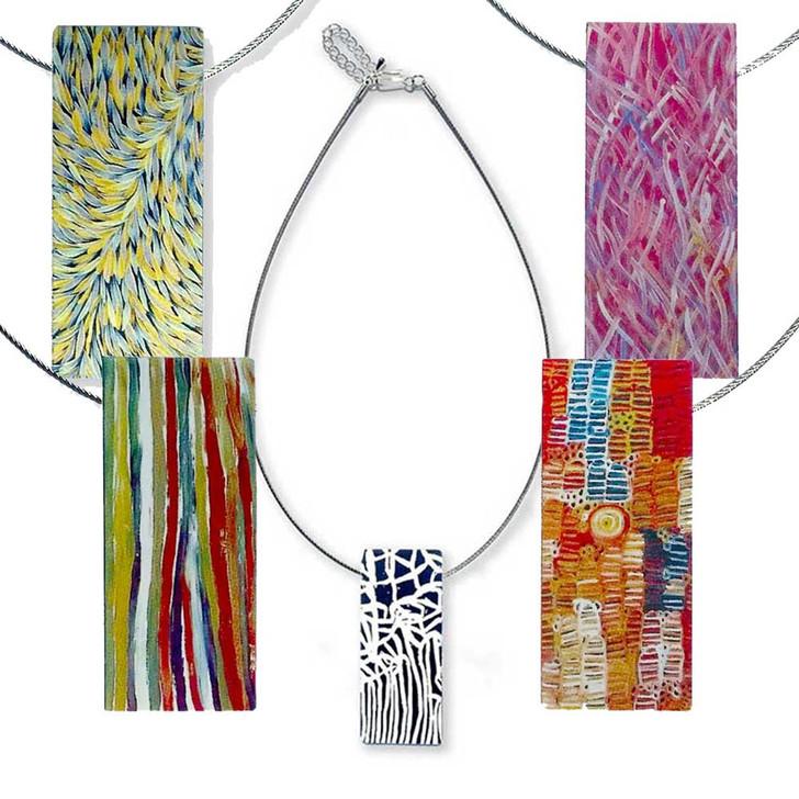 Pendant Necklace Featuring Indigenous Designs