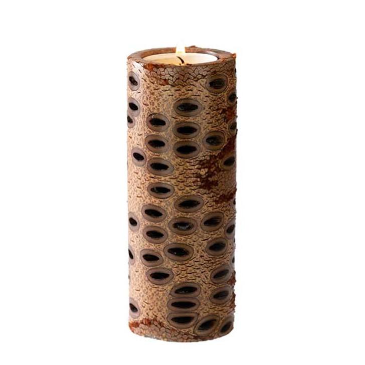 Banksia Seed Pillar Candle - Tall