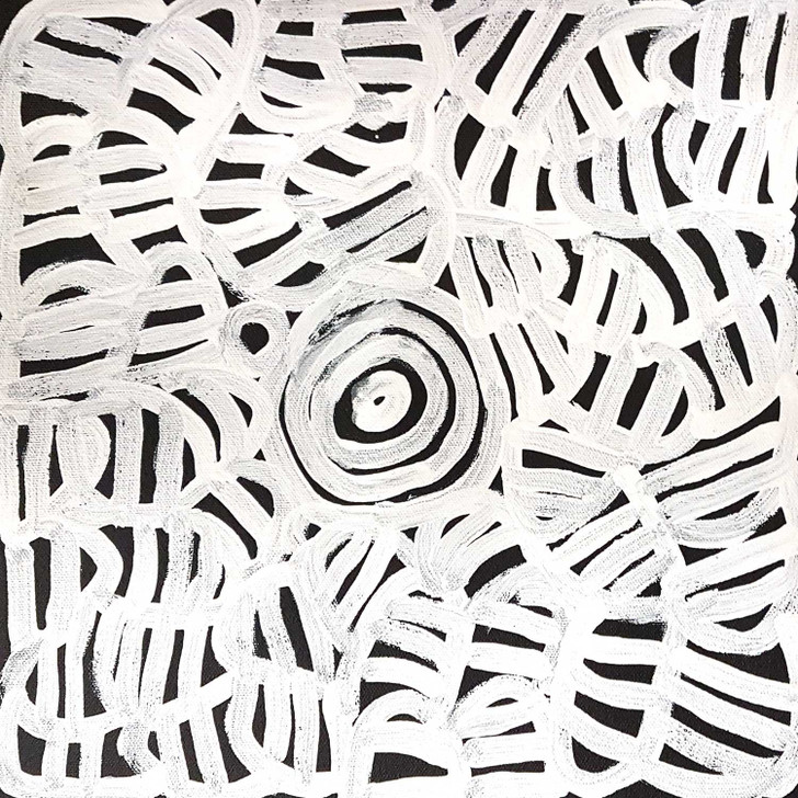 Black and white contrast to create a striking piece by Betty Mpetyane.
