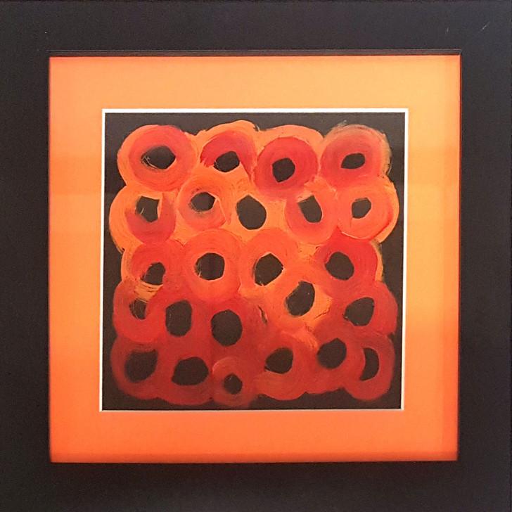 Original framed art by Aboriginal artist Lena Pwerle