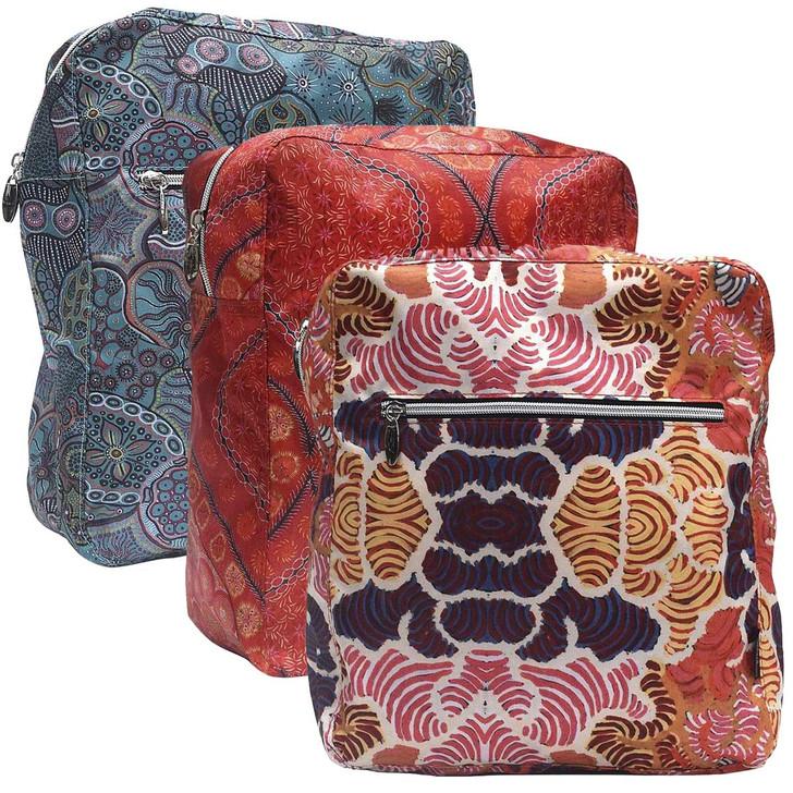 Lightweight Backpack featuring Aboriginal designs