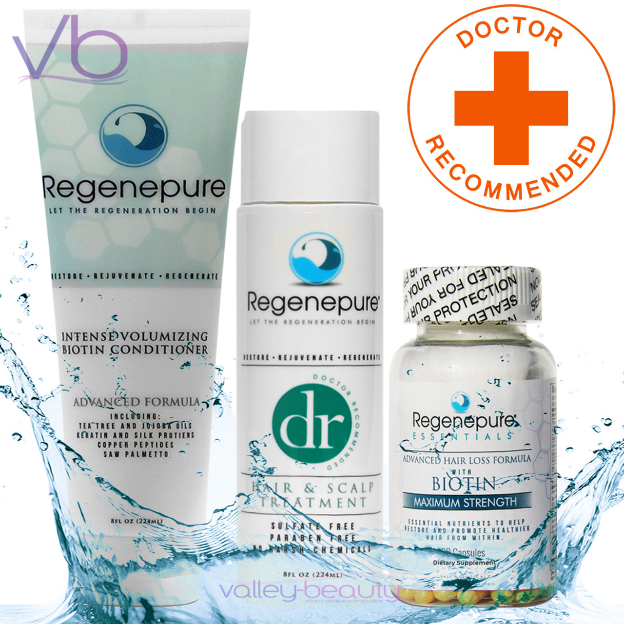 RegenePure DR + Biotin Conditioner + Supplement Set