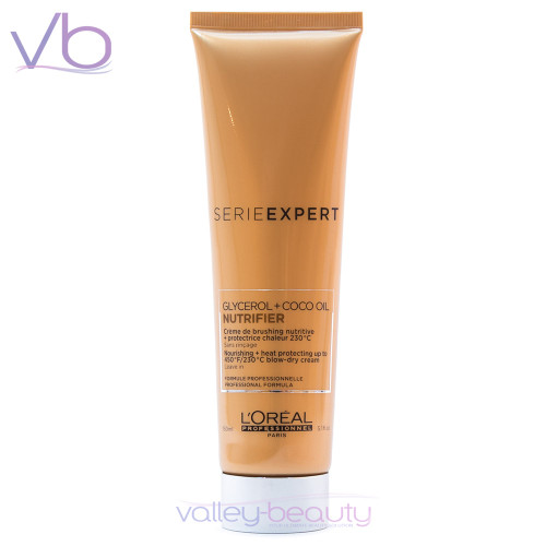 L'Oréal Serie Expert Nutrifier Heat Protecting Blow-dry Cream