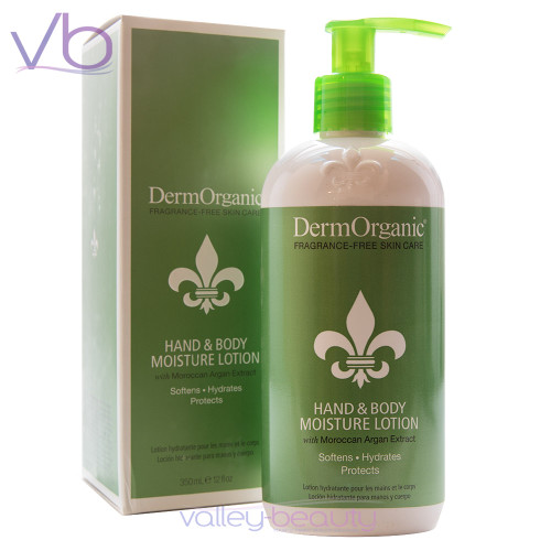 DermOrganic Hand & Body Moisture Lotion with Moroccan Argan Extract