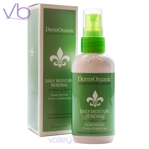 DermOrganic Daily Moisture Renewal, Sheer Formula that Firms and Elasticizes for Face and Neck